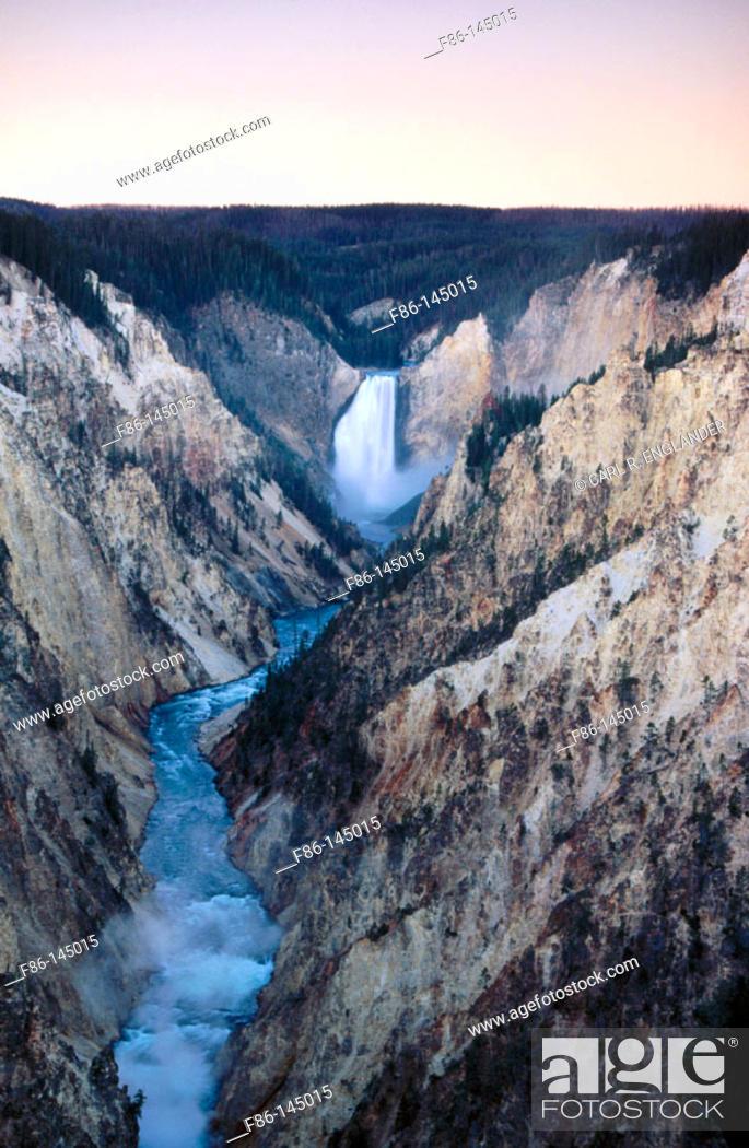 Stock Photo: Lower Falls. Grand Canyon. Yellowstone National Park. Wyoming. USA.