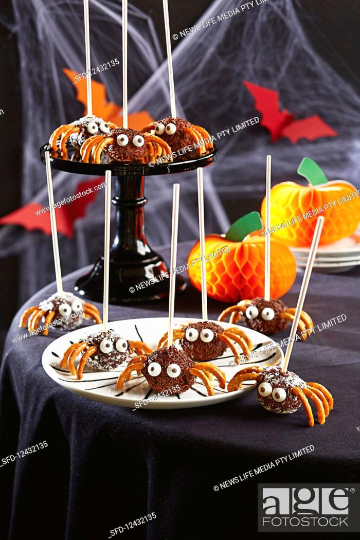 Stock Photo: Halloween spider pops.
