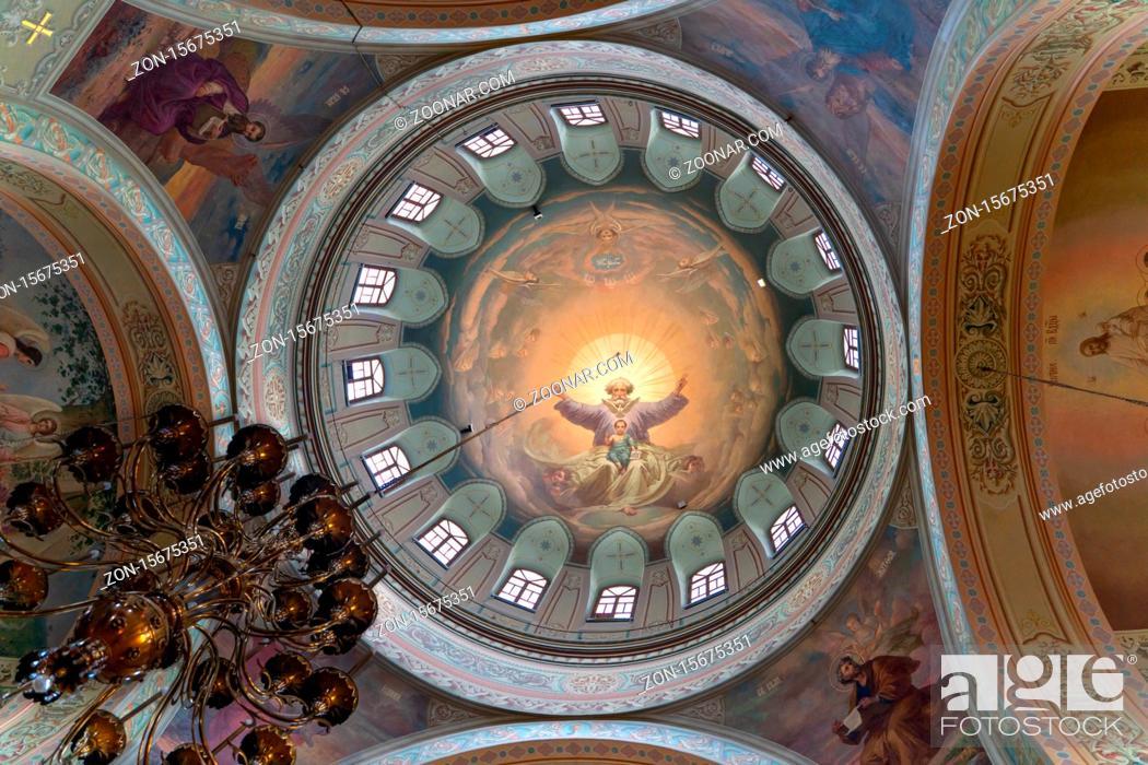 Stock Photo: Sviyazhsk/Russia-05.07.2020:Inside the Sviyazhsk mail monastery.
