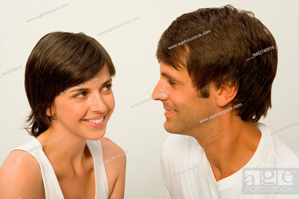 Stock Photo: Couple looking at each other.