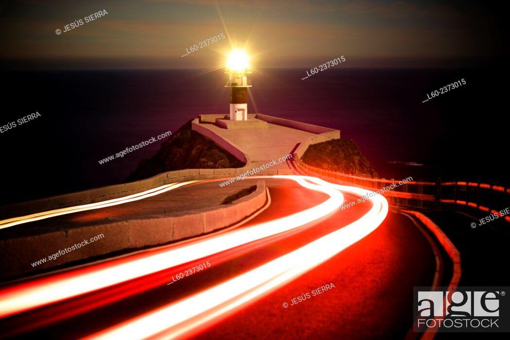Stock Photo: Cape Ortegal Lighthouse, A Coruña, Galicia, Spain.