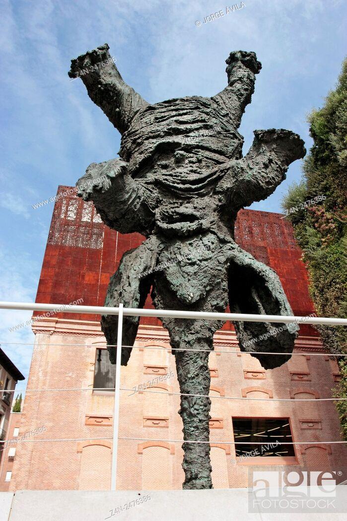 Stock Photo: Gran Elefant Dret by Miquel Barceló, Caixa Forum, Madrid, Spain.