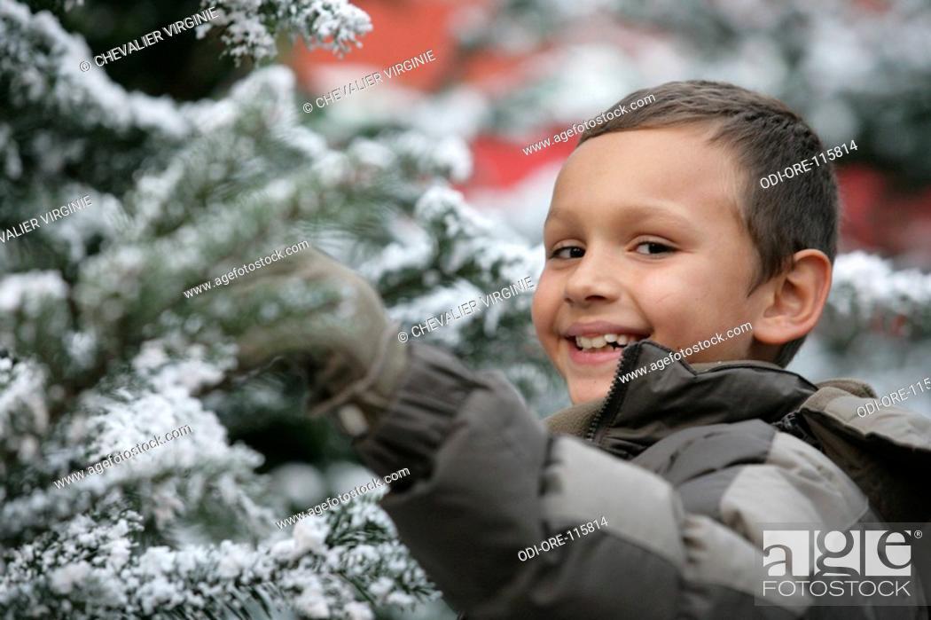Stock Photo: Child winter portrait.