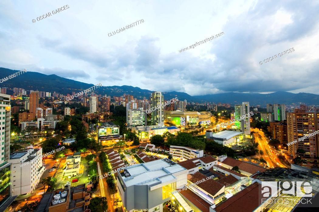 Stock Photo: Panoramic of The Poblado, Medellin, Antioquia, Colombia.