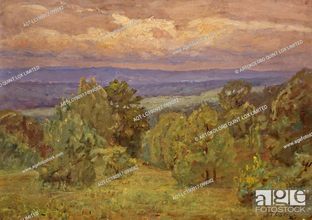 Stock Photo: Storm Clouds, Theodore Clement Steele (American, 1847-1926), 1921, oil on canvas, 20 x 28 in. (canvas) 23-1/2 x 31-1/2 x 2 in.