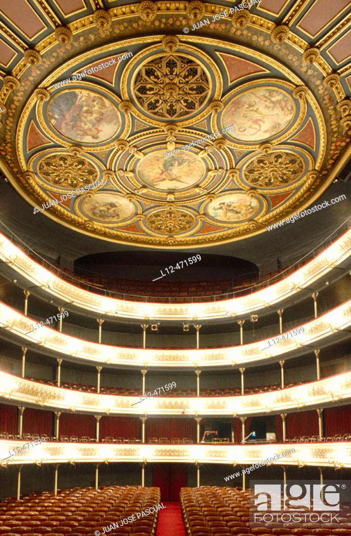 Stock Photo: Teatro Principal, Zaragoza. Aragón, Spain.
