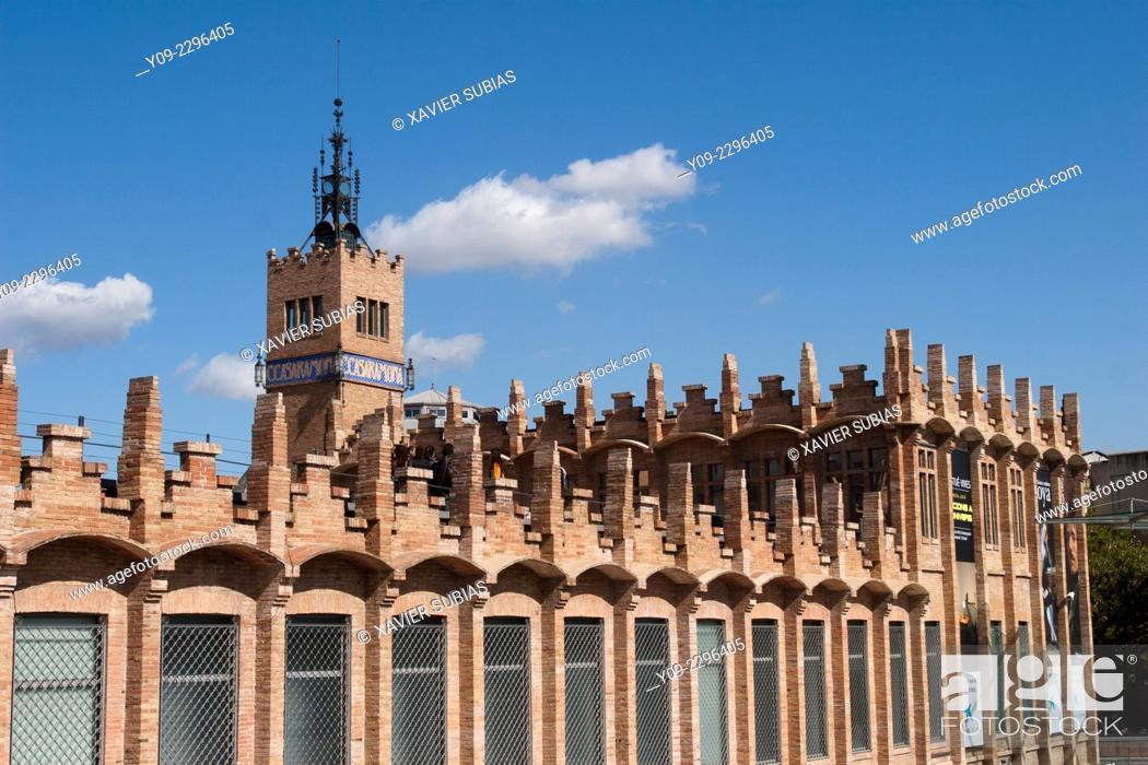 Photo de stock: Caixa Forum, Montjuic, Barcelona, Catalonia, Spain.