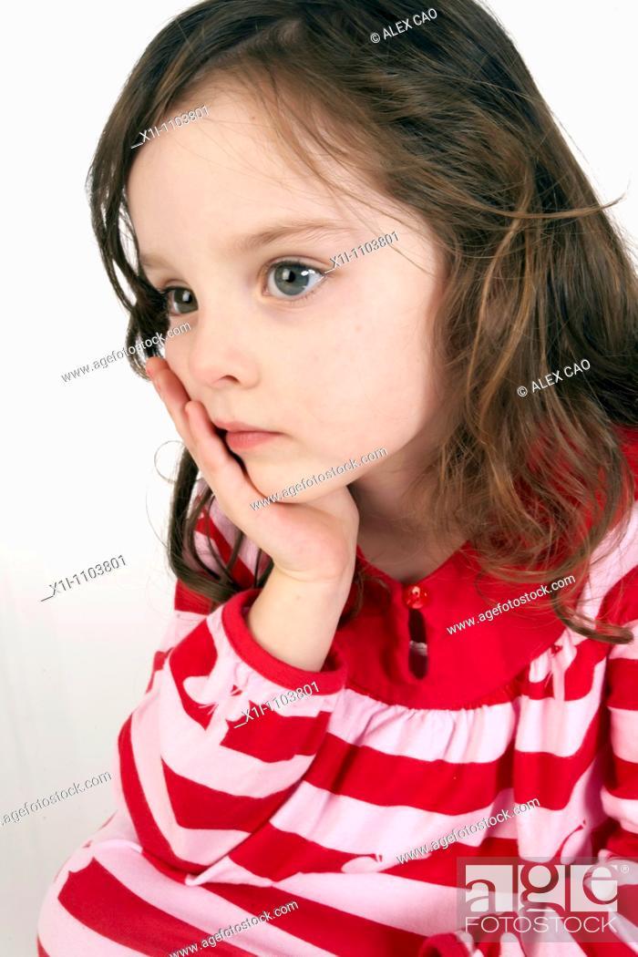 Stock Photo: Sad girl.