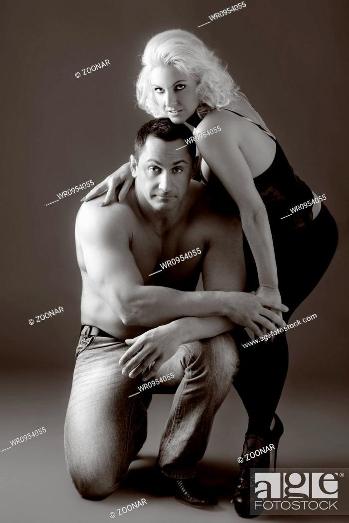 Stock Photo: Fashion Naked Couple.