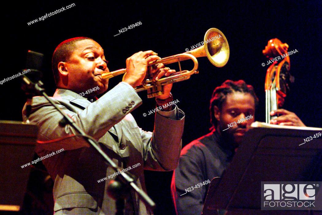 Stock Photo: Wynton Marsalis, jazz American trumpetist.