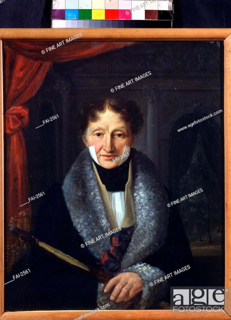 Stock Photo: Portrait of the ballet master Charles Louis Didelot (1767-1837). Baranov, Vasili Venediktovich (1792-1836). Oil on canvas. Classicism. 1824-1825.