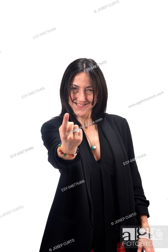 Photo de stock: woman who says with your finger come.