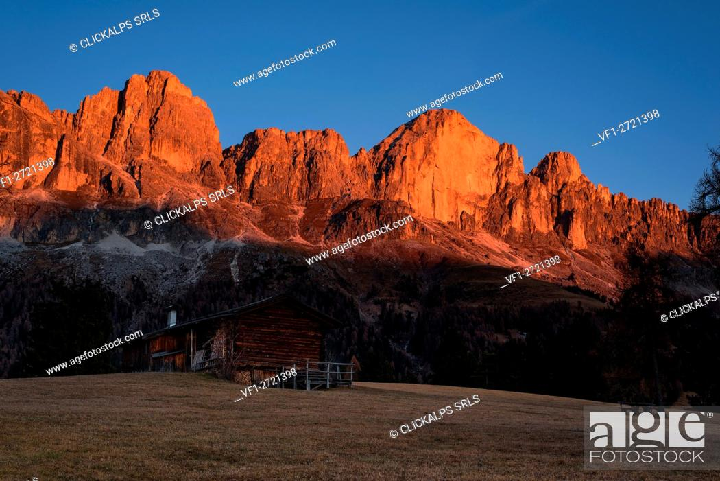 Stock Photo: Rosengarten, Italy, Dolomites, Alto Adige.