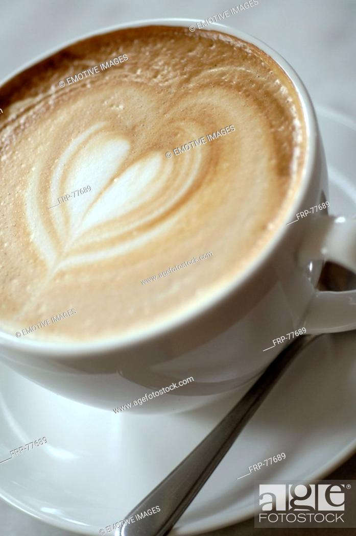 Stock Photo: Cappuccino with heart-shaped froth.