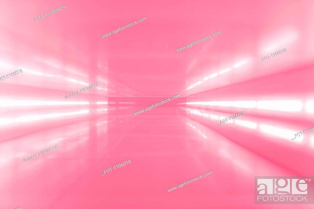 Stock Photo: An abstract corridor in pink tones.