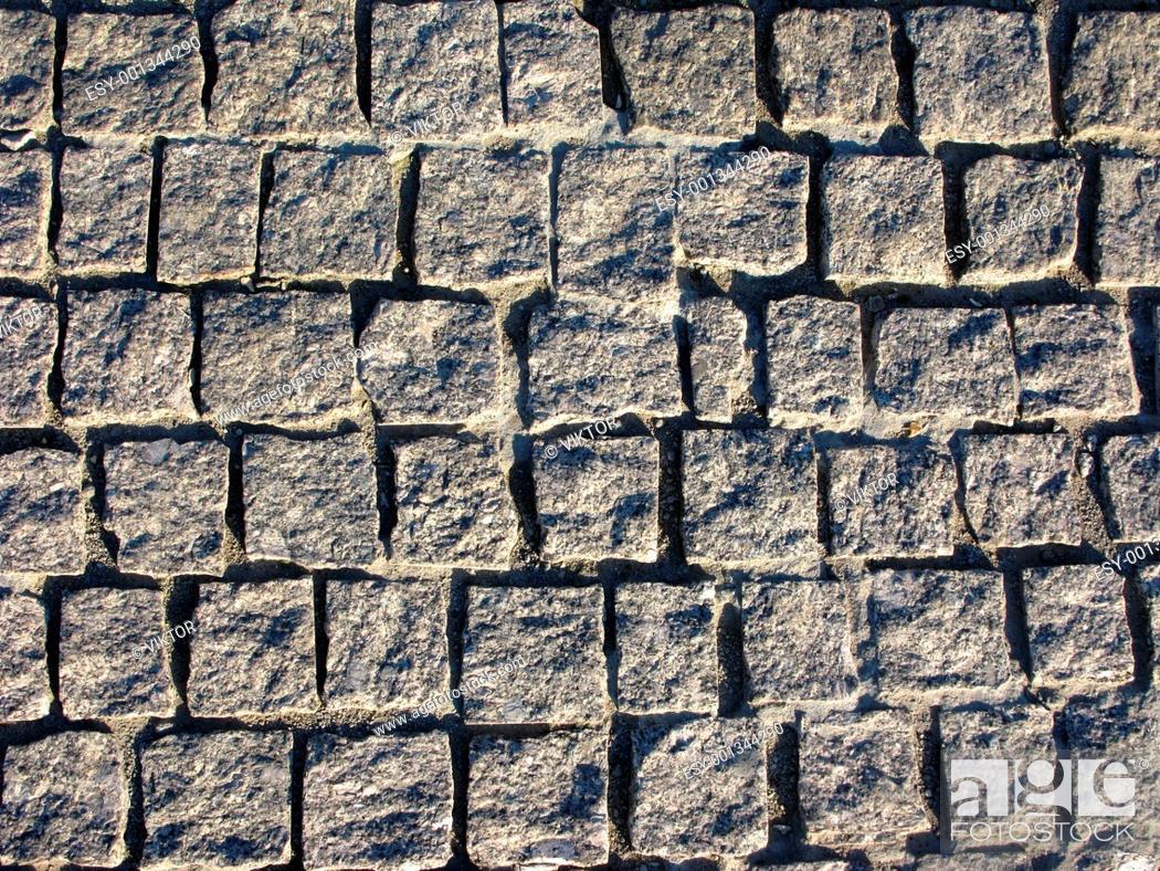 Stock Photo: Granite pavement background.