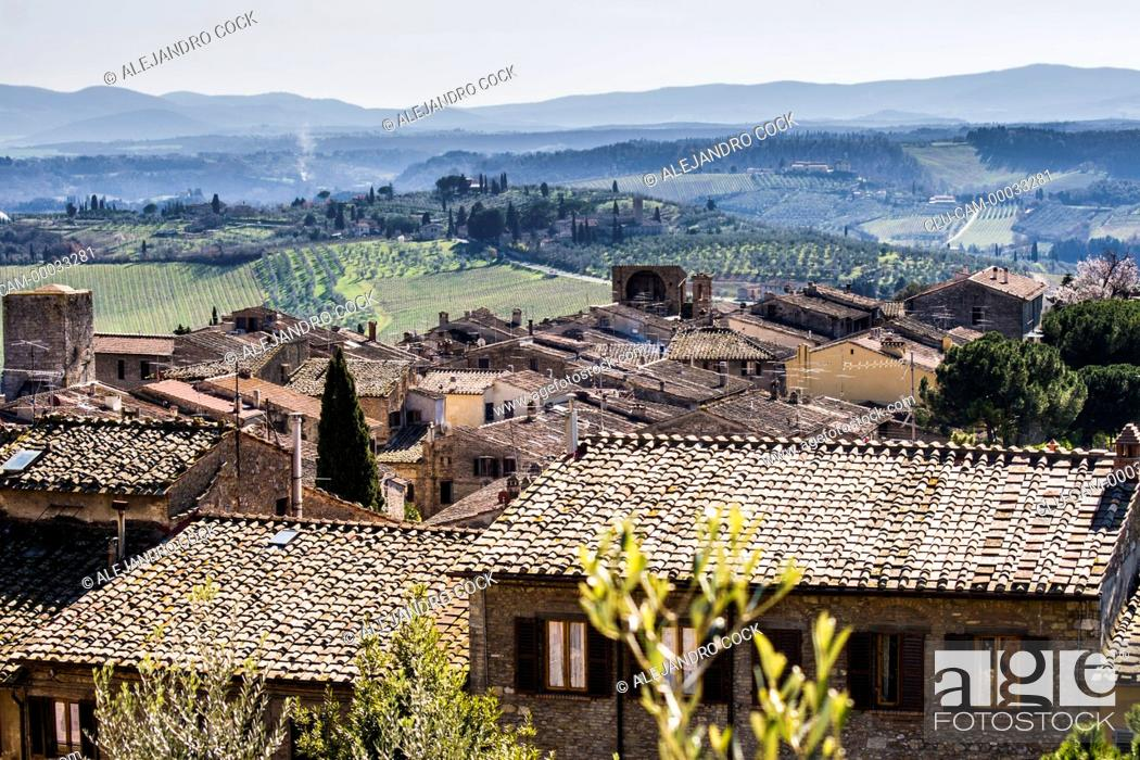 Stock Photo: Traditionals Housing of Arezzo, Tuscany, Florence, Italy, Western Europe.
