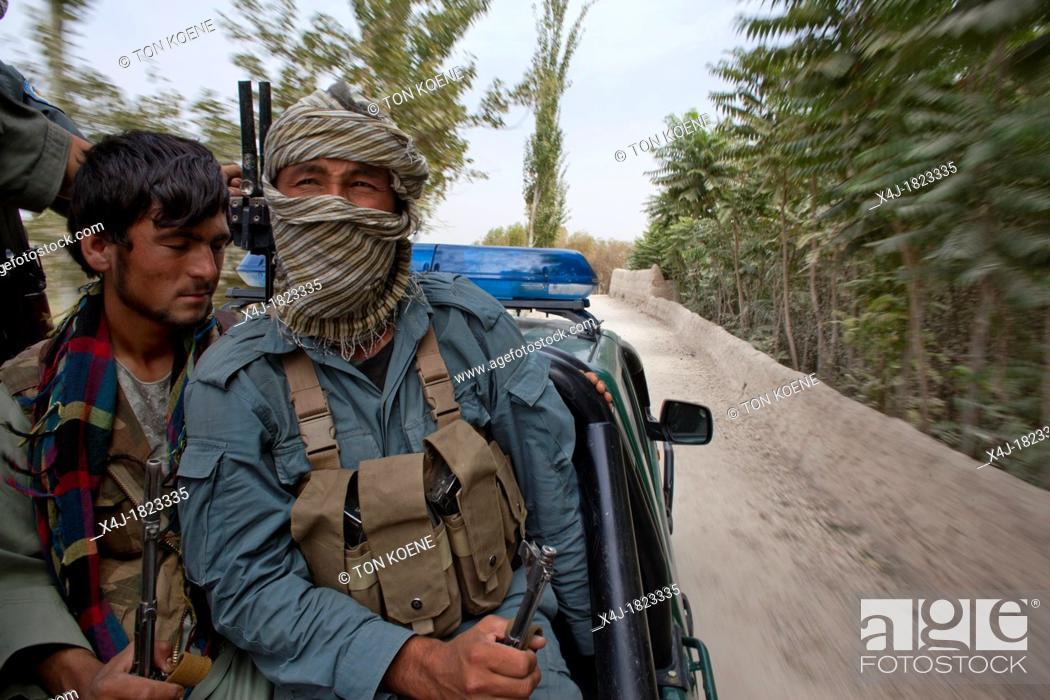 Stock Photo: Estimated 10 000 Arbaki fighterswarlords in Kunduz province.