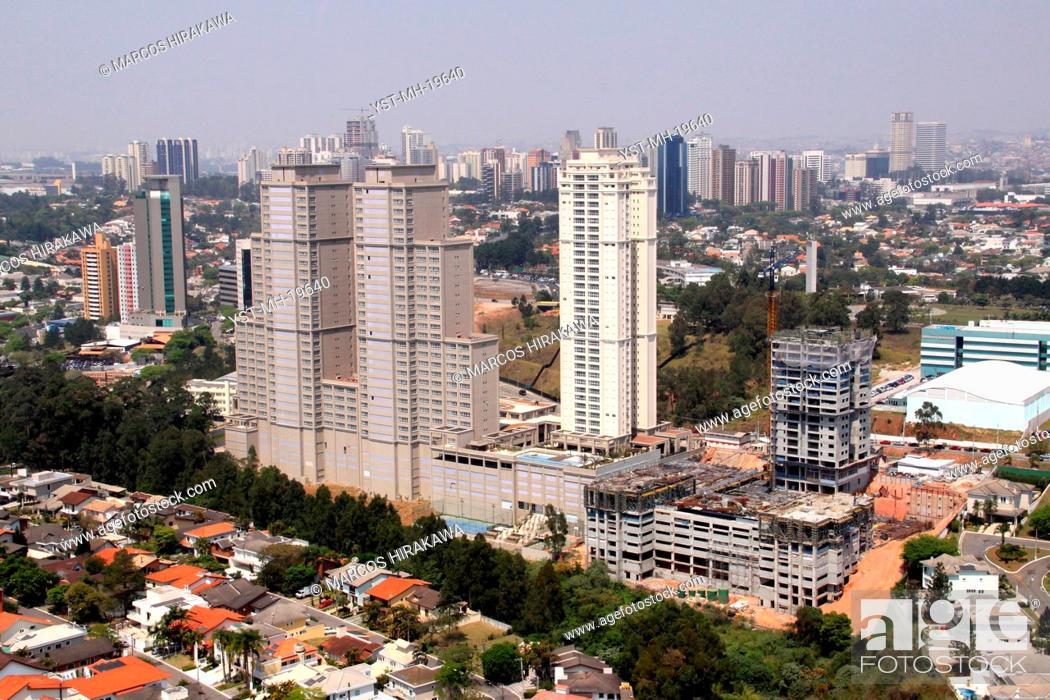 Stock Photo: Aerial view, São Paulo, Brazil.