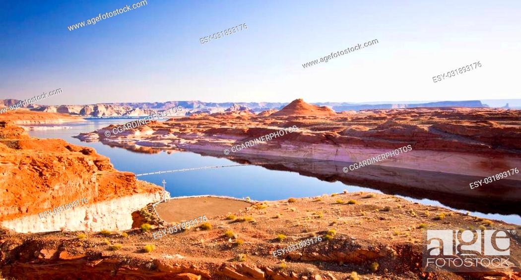 Stock Photo: Lake Powell on the Border of Utah and Arizona in the United States.