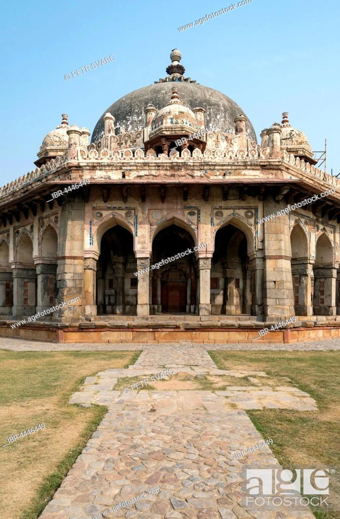 Imagen: Isa Khan's Garden Tomb, Humayun's Tomb, New Delhi, India.