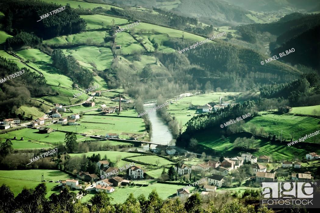 Stock Photo: Udalla, Ampuero  Cantabria, Spain.