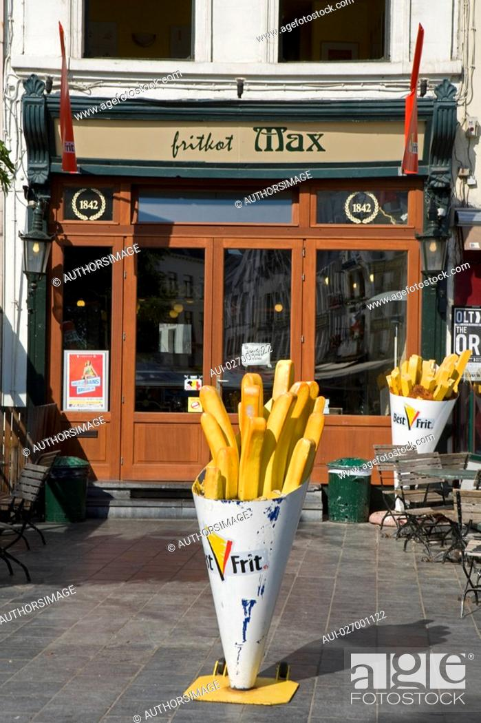 Stock Photo: Belgium - Flanders - Antwerp - Chips restaurant.