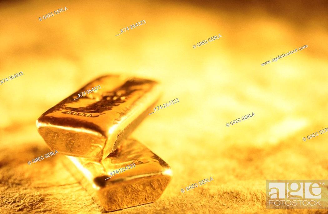 Stock Photo: Gold bars.