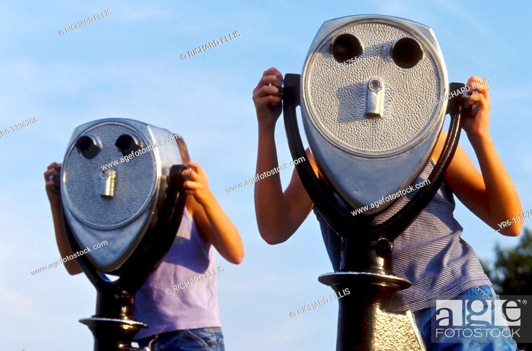 Stock Photo: Viewscope binoculars.