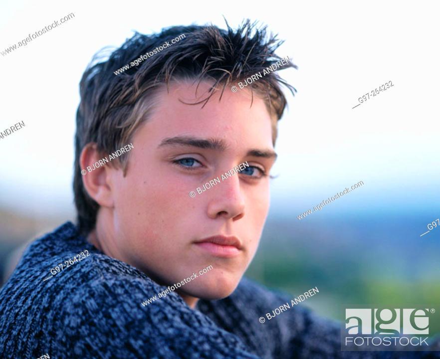 Stock Photo: Teenage boy.