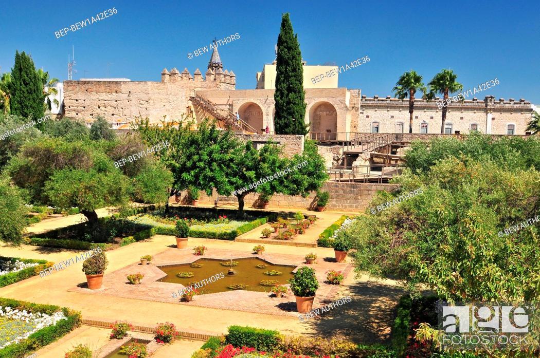 Photo de stock: Alcazars garden, Jerez de la Frontera, Spain, Andalusia,.