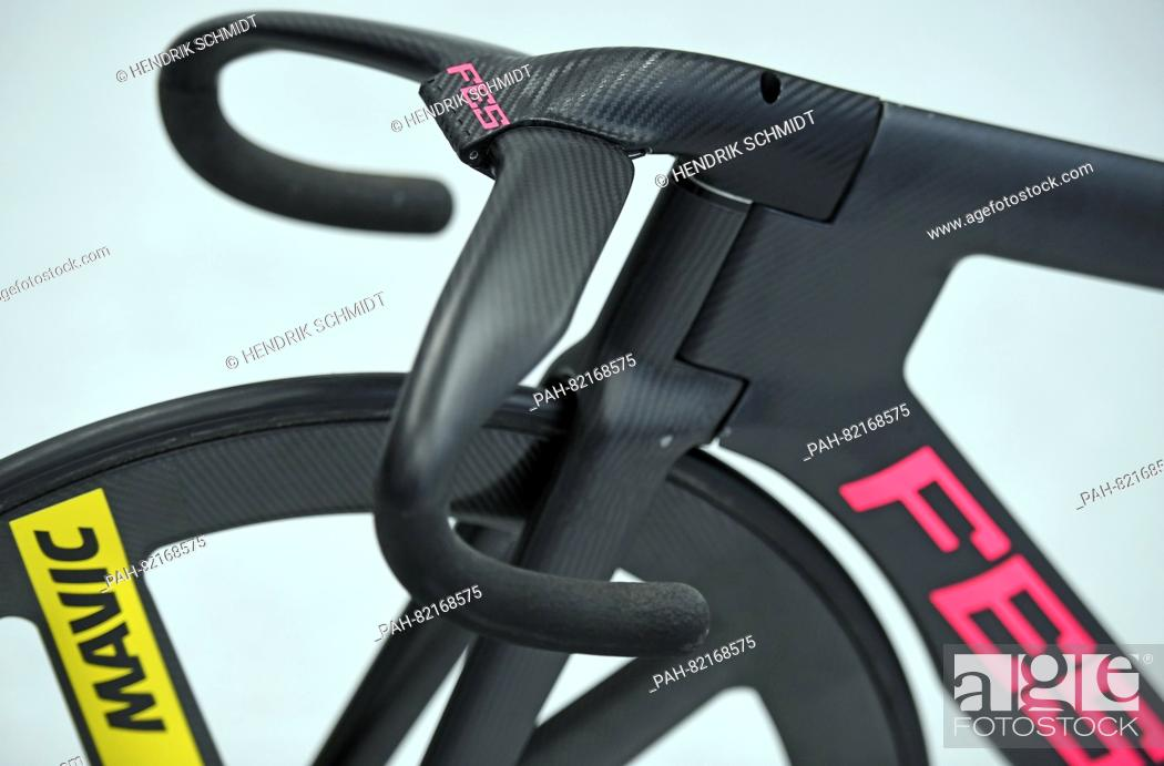 The brand new fixed-wheel bicycles of German track cyclist