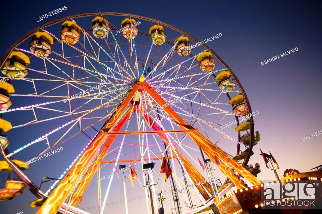 Photo de stock: Fair of 'Día de los Tres Reyes' Amusement park.