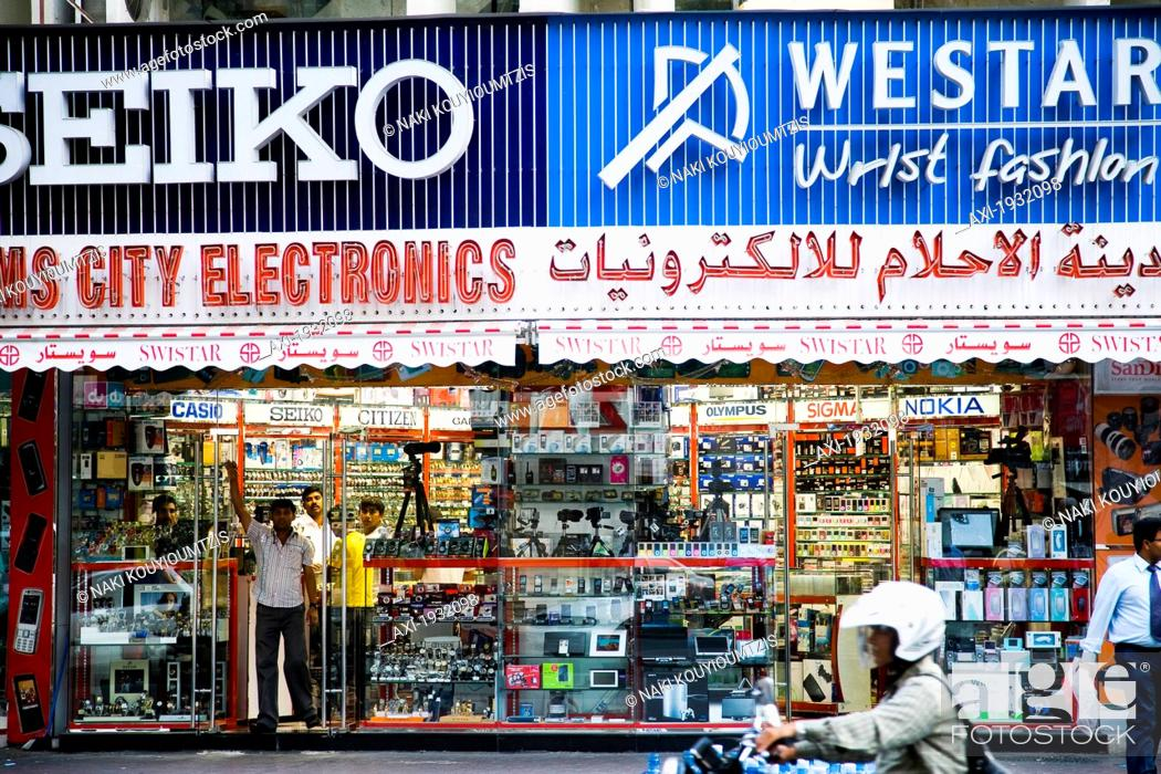 Shop Selling Watches And Electronic Goods  Al Raffa Area Of The City