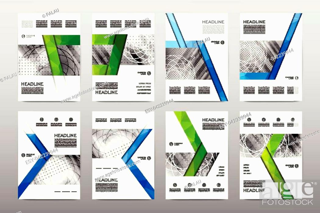 Stock Vector: Brochure layout template flyer design vector, Magazine booklet cover abstract background Poster leaflet.