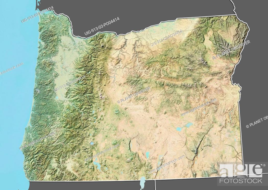 Relief Map Of United States.Relief Map Of The State Of Oregon United States This Image Was