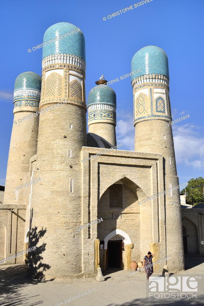 Stock Photo: Uzbekistan, Unesco World Heritage Site, Bukhara, Chor Minor (Char Minar), Former gatehouse of a destroyed madrasa (19th C).