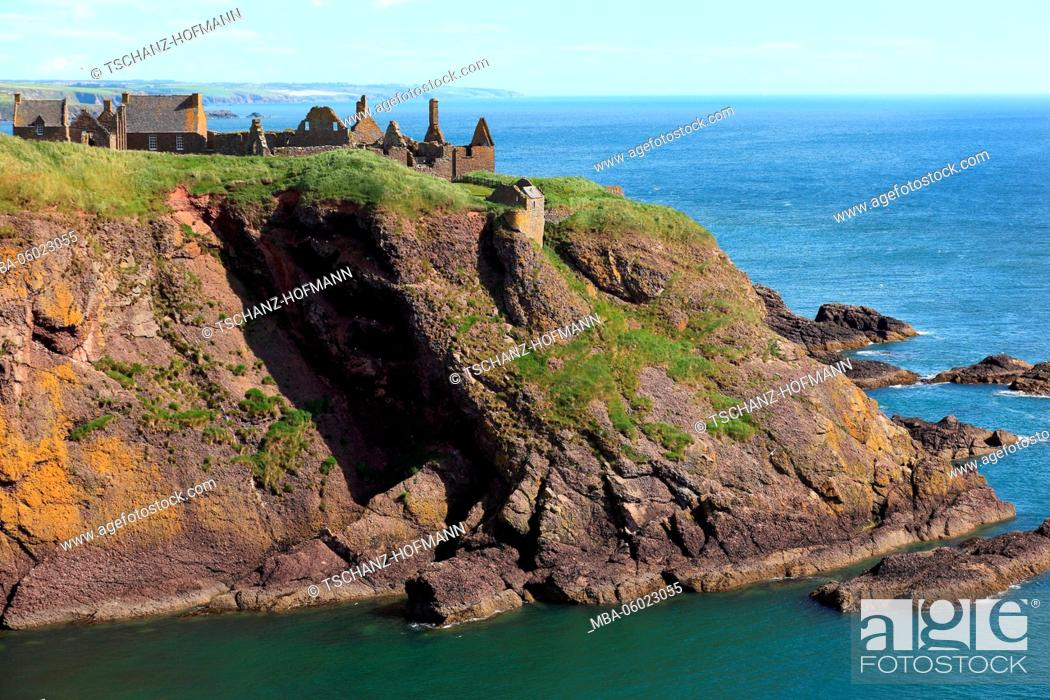 Scotland, Dunnottar Castle is a ruined castle in