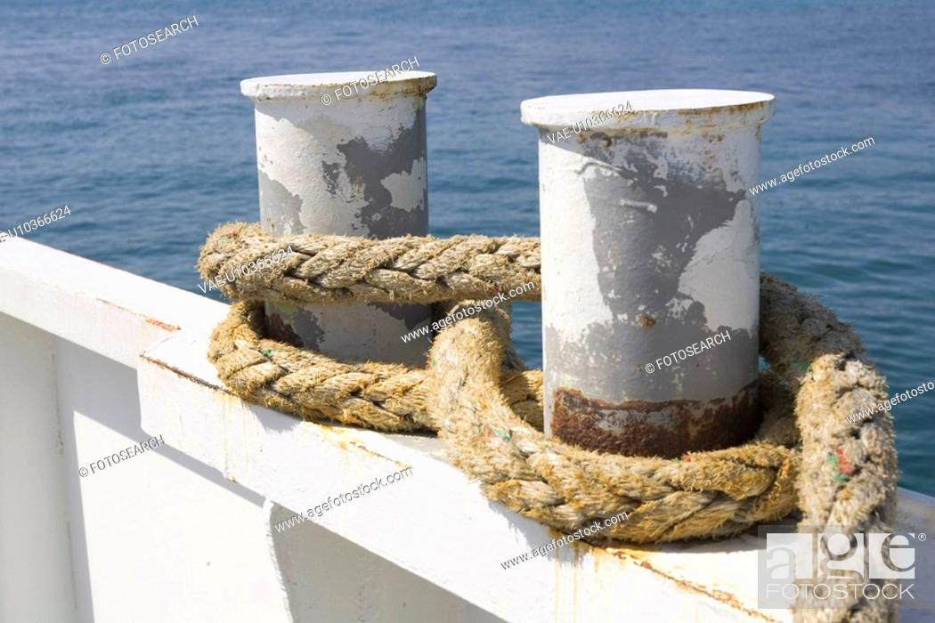 Stock Photo: Close-Up, Day, Metal, Moored.