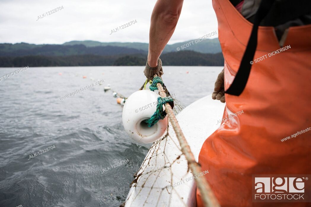 Imagen: Set-net fishermen pulling the net aboard a set-net skiff, South-central Alaska; Seldovia, Alaska, United States of America.