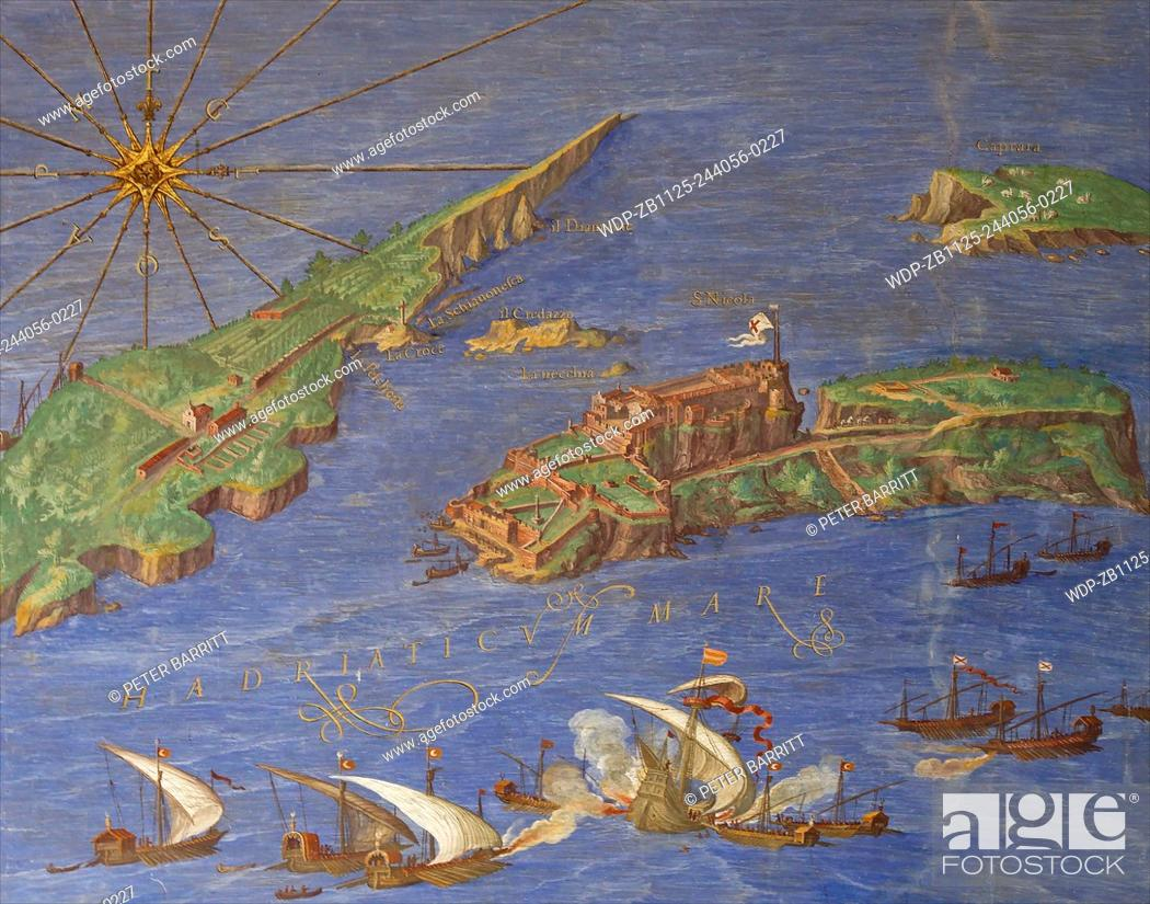 Tremiti Islands and View of Ostia by Ignazio Danti Gallery of Maps