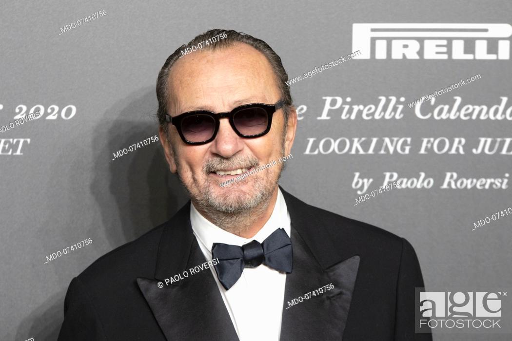 Stock Photo: Italian photographer Paolo Roversi during the presentation of the Pirelli 2020 Calendar at the Verona Philharmonic Theater.