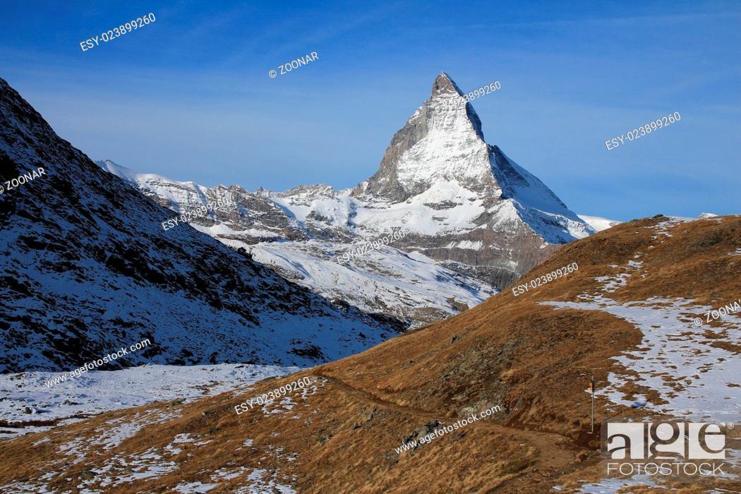 Stock Photo: Majestic Mt Matterhorn.