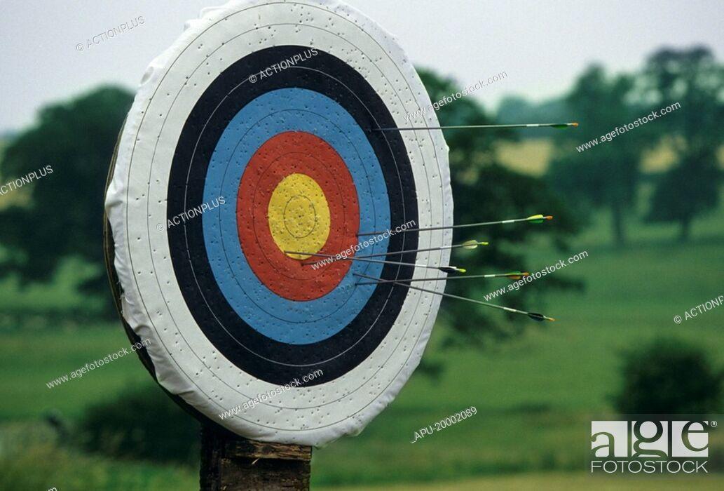 Imagen: Close up of an archery target.