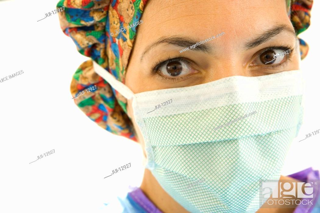 Stock Photo: Portrait of surgeon, close-up.