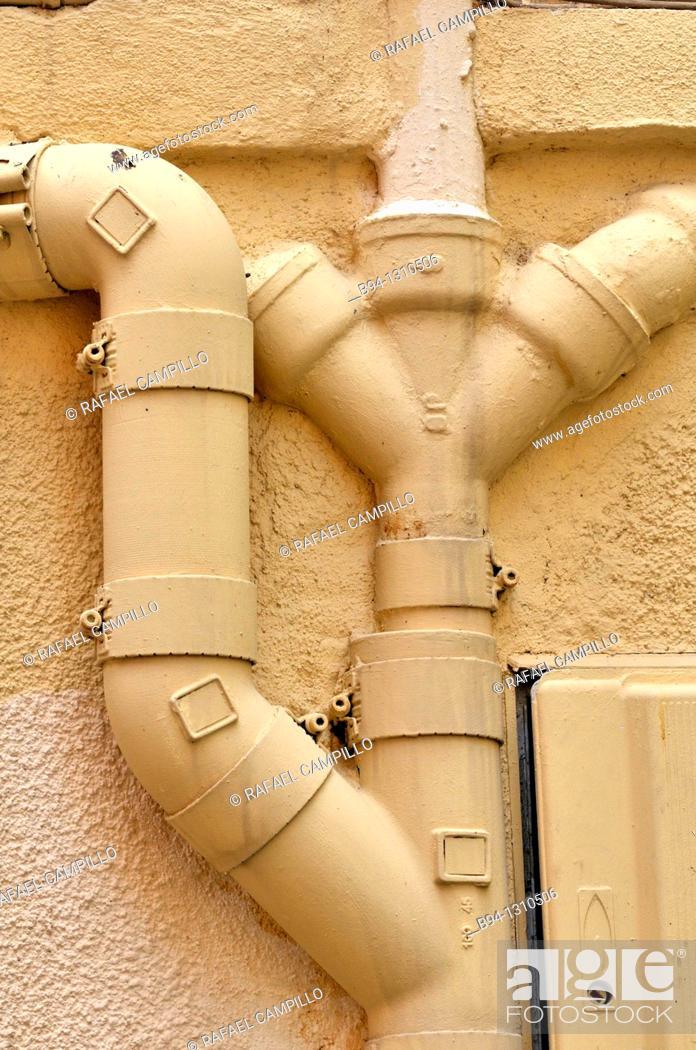 Stock Photo: Drain pipes.