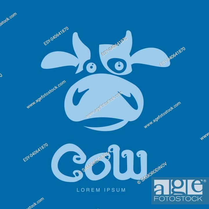 funny cow head logo template funny smiling sad cow face for dairy products beef stock vector vector and low budget royalty free image pic esy 040641870 agefotostock https www agefotostock com age en stock images low budget royalty free esy 040641870