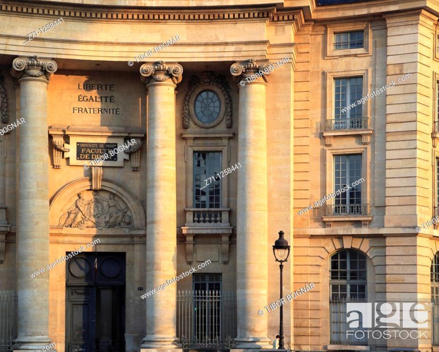 Stock Photo: France, Paris, Université de Paris, Faculté de Droit,.