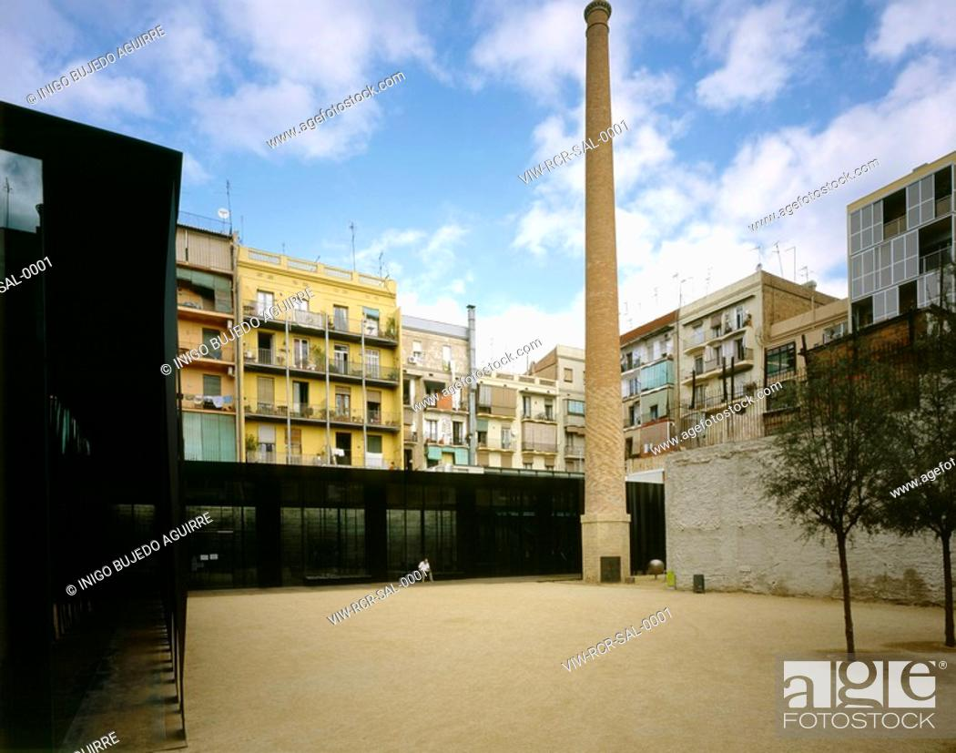 SAINT ANTONI LIBRARY, OLD PEOPLES HOME AND PLAZA, BARCELONA, SPAIN