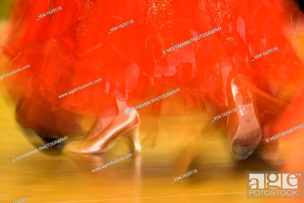 Stock Photo: A female dancer at ballroom dancing, Germany, Europe.